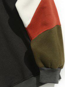 Cuello Redondo Oscuro De Sudadera Gris Block 2xl Lana Con Color BwExqT
