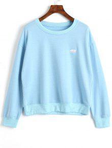 Suéter Bordado Pullover - Azul Xl