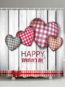 عيد الحب منقوشة القلب نمط ماء دش الستار - W71 بوصة * L71 بوصة