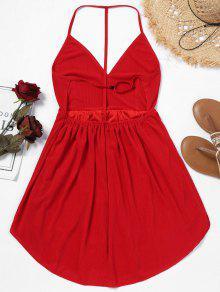 Rojo Cami Espalda Mini Vestido M Sin qwIxwSvZ