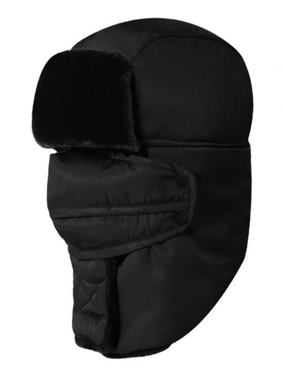 Winter Waterproof Thicken Hunter Trapper Hat - Preto