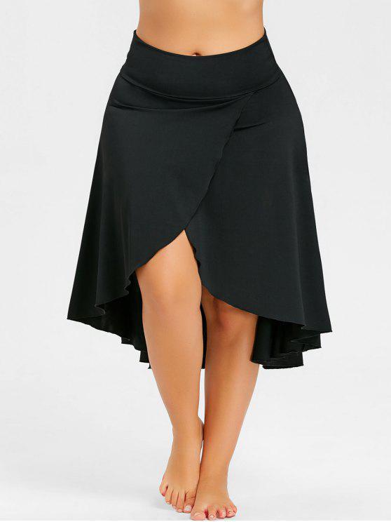 ce1a489e139e 33% OFF  2019 Asymmetrical Plus Size Split High Low Skirt In BLACK ...