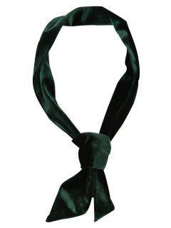 Vintage Velvet Neckerchief - Blackish Green