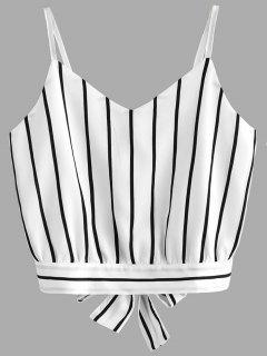 Bowknot Stripes Ausgeschnittenes, Kurzes Tank Top - Streifen  L