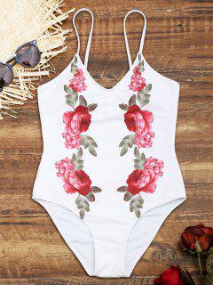 Maillot De Bain Une Pièce Floral - Blanc S