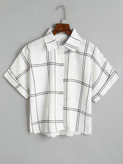 Chemise Ample à Carreaux à Boutons - Noir