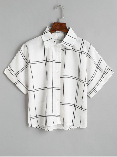 Camisa a cuadros con botones sueltos - Negro Única Talla Mobile