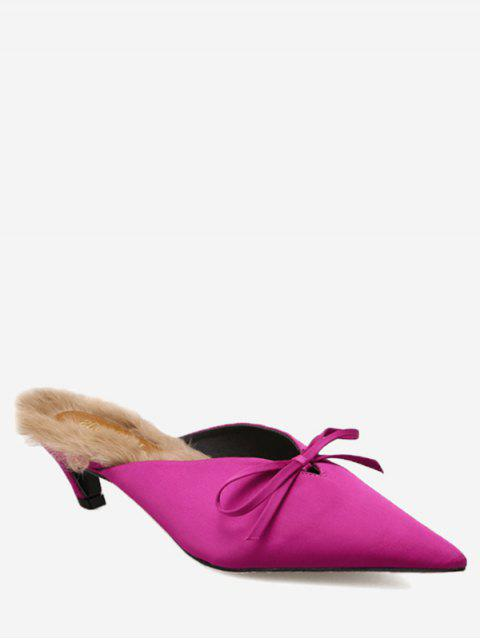 chic Knitted Heel Bow Mules Shoes - TUTTI FRUTTI 39 Mobile