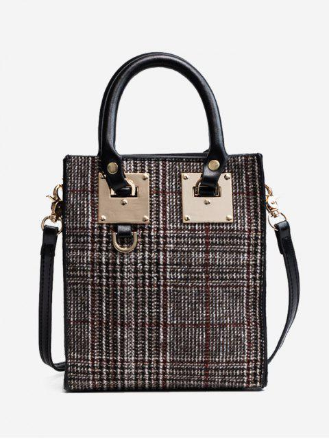 Metall Plaid Handtasche - Rot  Mobile