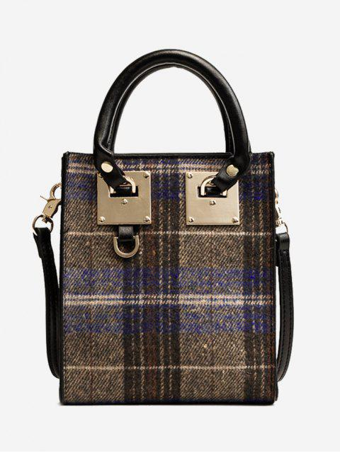 Metall Plaid Handtasche - Blau  Mobile
