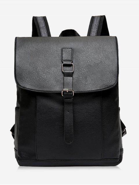 sale Buckle Strap PU Leather Backpack -   Mobile