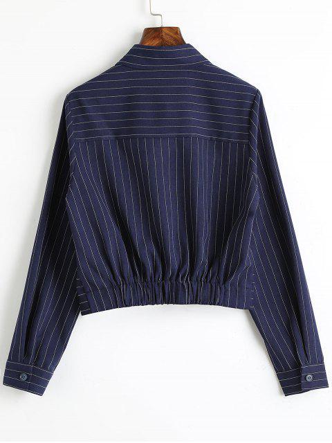 outfit Twist Cropped Stripes Shirt - STRIPE L Mobile
