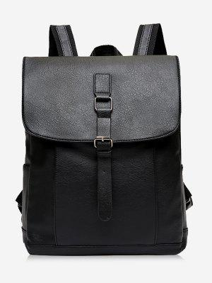 Buckle Strap PU Leather Backpack