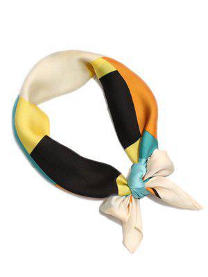 Motif géométrique décoration bloc de couleur Faux soie écharpe