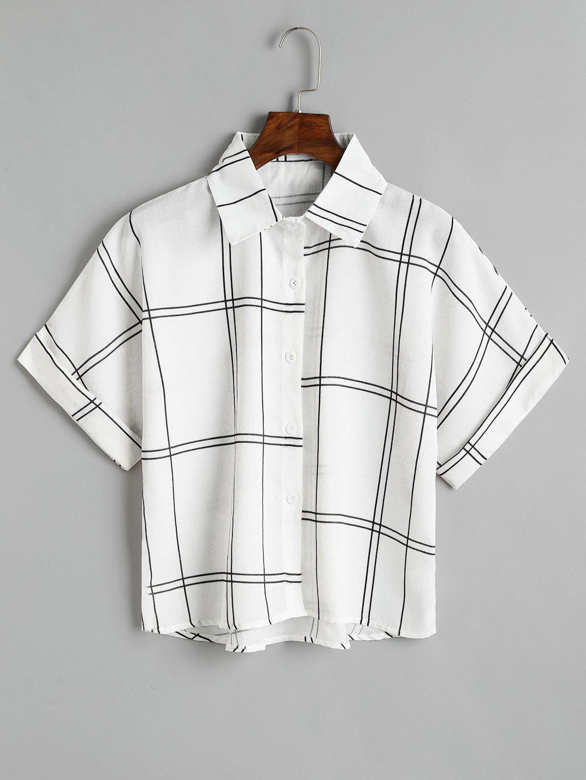 Loose Button Down Chec