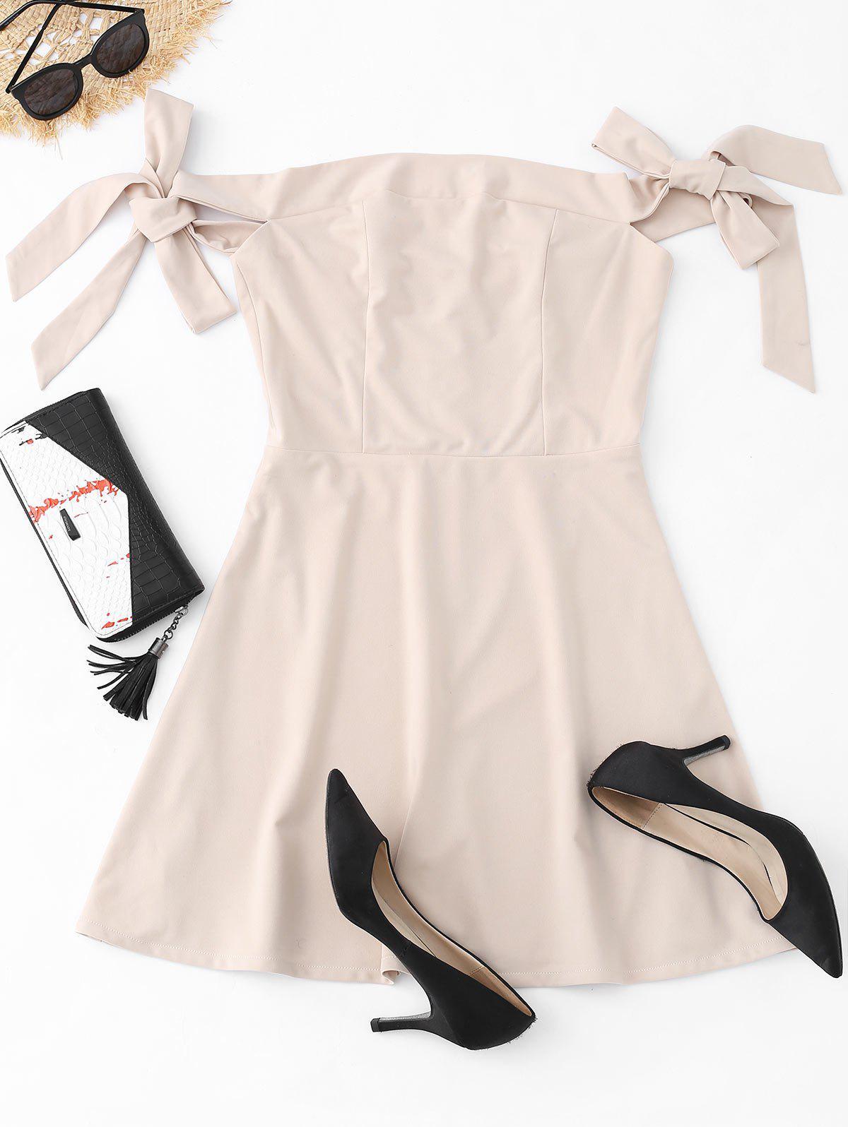 Off The Shoulder Bowknot Mini Dress 238821001