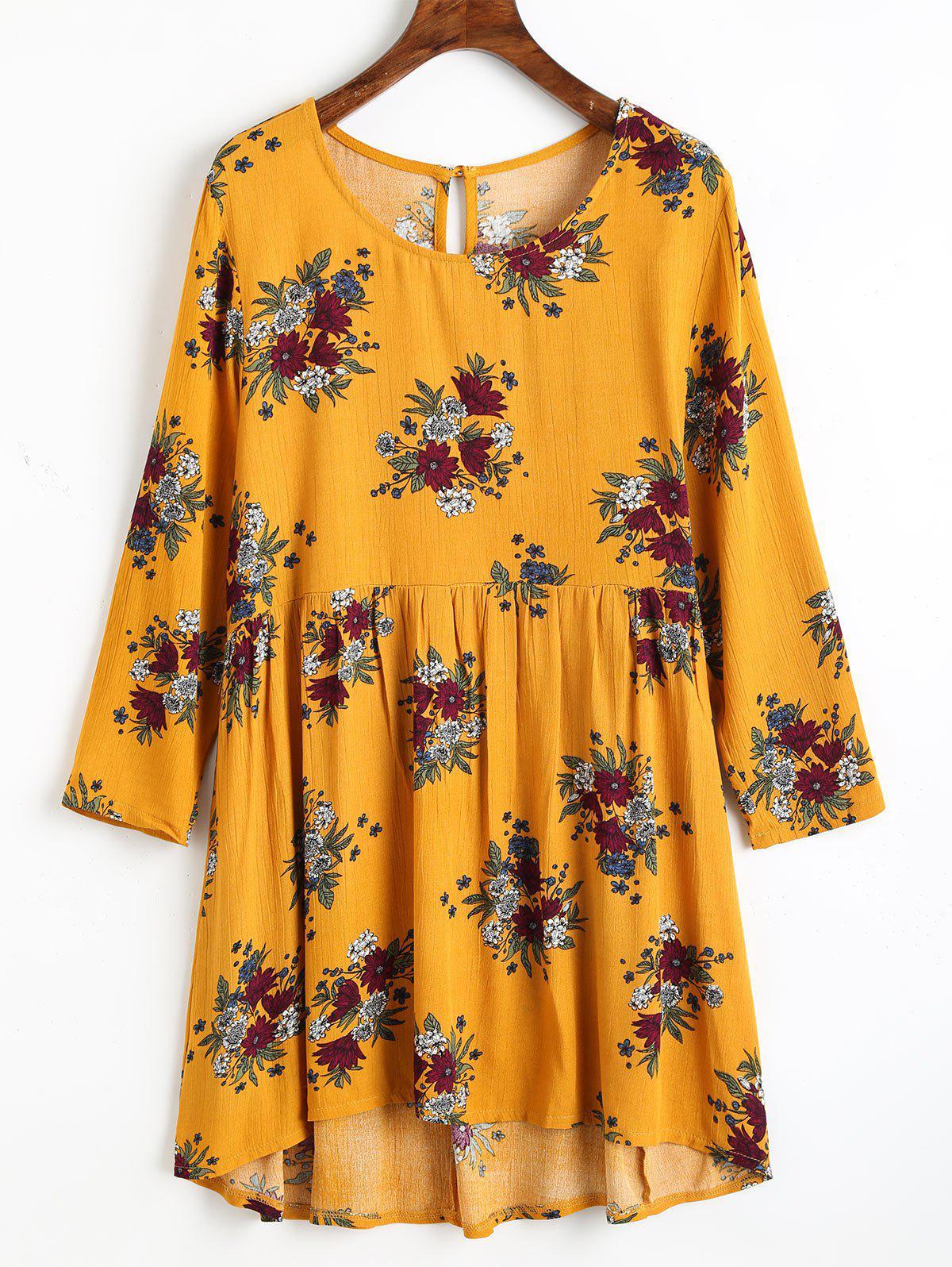 Blumendruck hohe niedrige Bluse