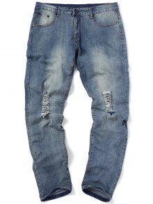 جينز ممزق ضيق - ازرق 34