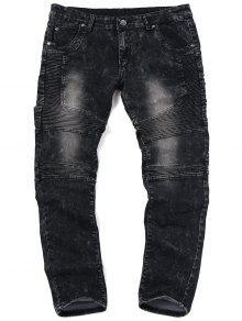 جينز الدرجات ضيق للرجال - أسود 36