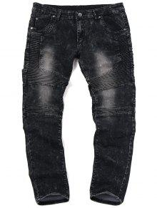 جينز الدرجات ضيق للرجال - أسود 34
