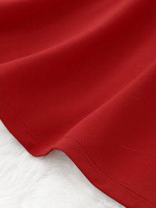 Mini Rojo Vestido Cami Abierta Espalda L Con pKq0w