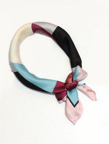 هندسي نمط الديكور اللون كتلة فو الحرير وشاح - نبيذ أحمر