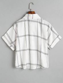 Sueltos Negro Con Camisa A Botones Cuadros FzxIOq