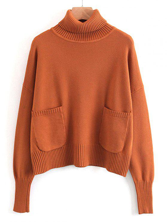 Pullover Turtleneck Sweater With Pockets SUGAR HONEY: Sweaters ONE ...