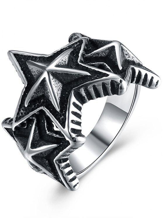 online Starfish Shape Punk Ring - BLACK 8