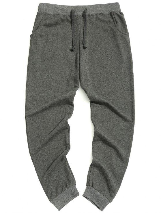 Casual Drawstring Pants - Cinza 2XL