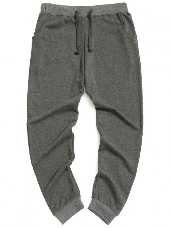 Pantaloni casual con coulisse - Grigio 2XL
