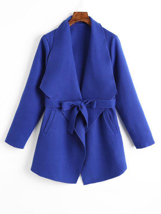 Revestimento com fecho liso com bolsos - Azul M