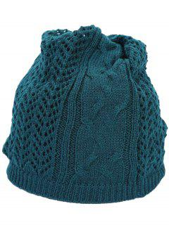 Hollow Out Crochet Knitted Infinity Loop Scarf - Apple Slice