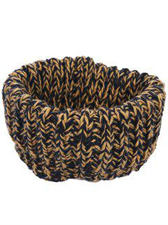 Colormix Pattern Crochet Knitted Infinity Scarf - Ginger