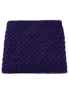 Corn Shape Pattern Crochet Knitted Infinity Loop Scarf - Deep Purple