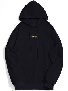 Kangaroo Pocket Chinion Graphic Hoodie - Black Xl