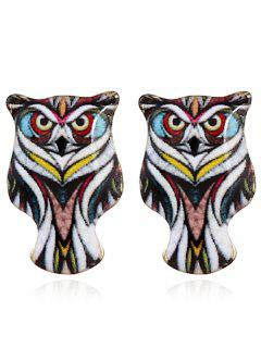 Owl Stud Tiny Earrings - Black