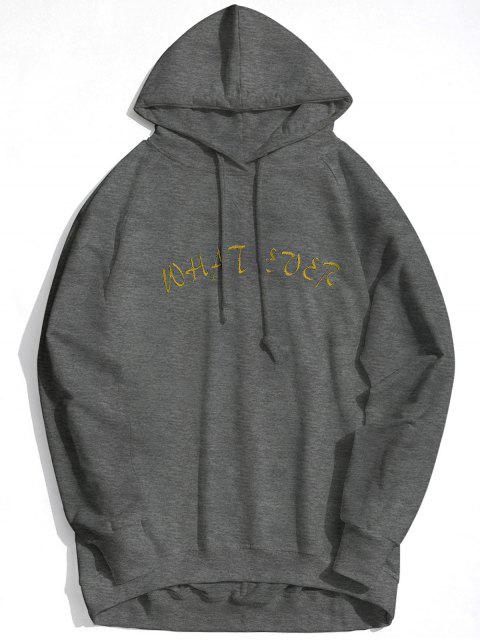 shops What Ever Graphic Hoodie - DEEP GRAY S Mobile