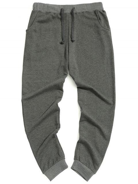 Pantalones de cordón casuales - Gris 2XL Mobile