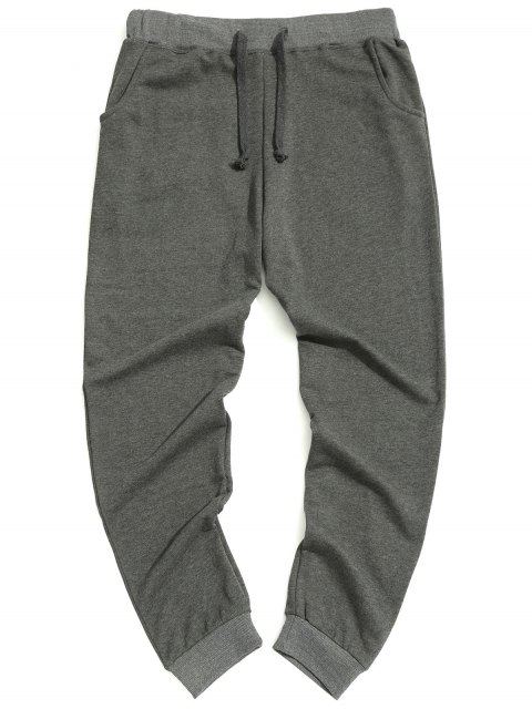 trendy Casual Drawstring Pants - GRAY XL Mobile