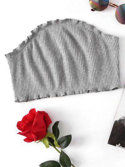 Ribbed Knitting Tube Top