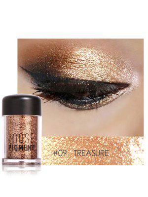 Polvo de sombras de ojos de pigmento suelto de maquillaje multifuncional