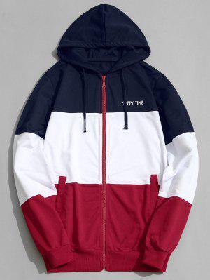 Color Block Zip Hoodie Herren Kleidung