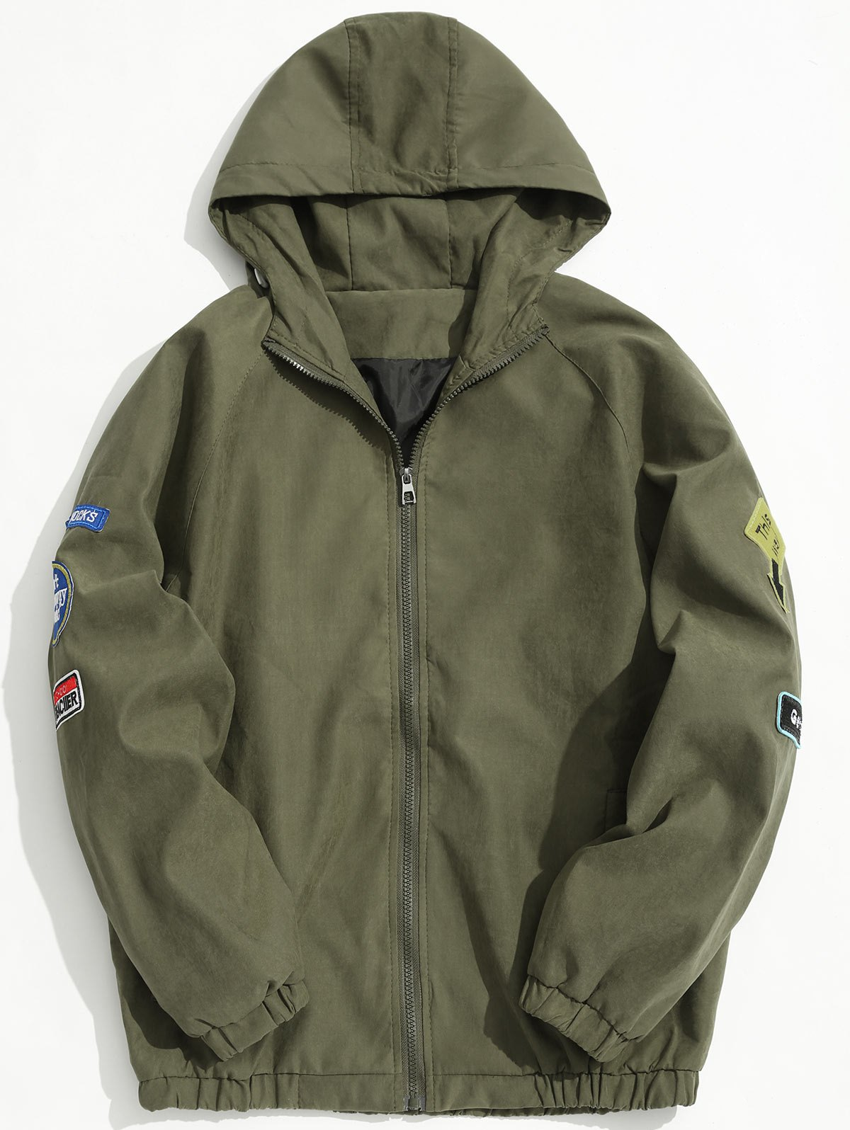 Hooded Patch Design Jacket