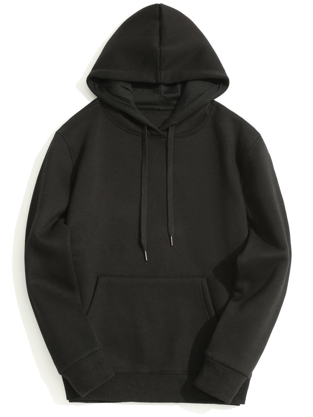 Fleece Lining Kangaroo Pocket Hoodie 239159009