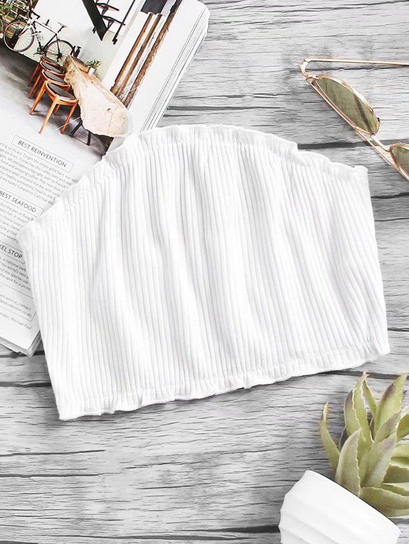 Knitted Ribbed Tube Top 240064405