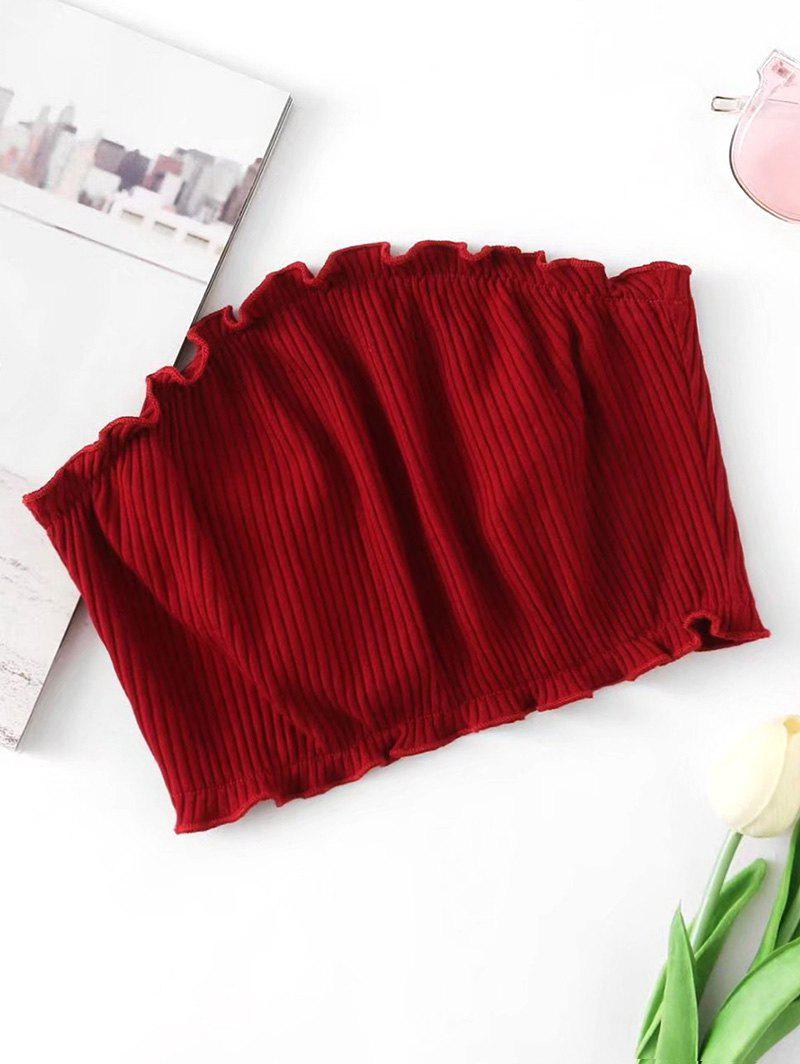 Knitted Ribbed Tube Top 240064403