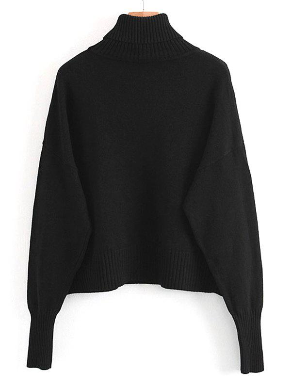 Pullover Turtleneck Sweater with Pockets 240075601