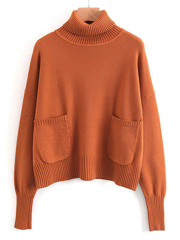 Pullover Turtleneck Sweater with Pockets 240075604