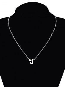 2018 heart letter j collarbone pendant necklace in silver zaful silver aloadofball Images